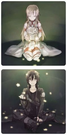 Sword Art Online - Kirito and Asuna. Find More Beautiful Wedding Dress at http://Nadhaweddingfashion.com