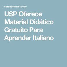 USP Oferece Material Didático Gratuito Para Aprender Italiano