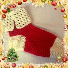 Here's a quick stocking pattern that works up while you watch tv. UPDATE!!! This morning (December 9th) I shot two videos. The first one shows the Tunisian lace being made and the second shows a Tu...