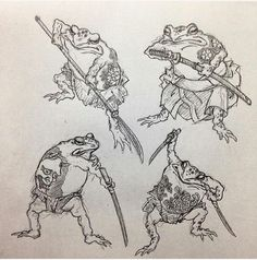 Japanese Toad tattoo
