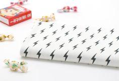 Lightening Bolt Pattern 40s Cotton Interlock Knit by luckyshop0228