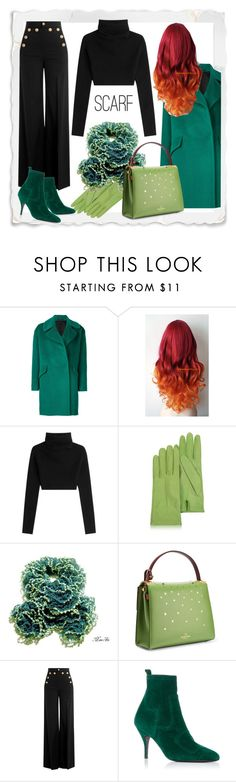 """""""Scarf"""" by fallforit ❤ liked on Polyvore featuring Tagliatore, Valentino, Forzieri, RED Valentino, Pierre Hardy, GREEN and scarf"""