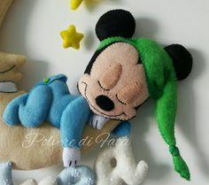 Mickey mouse felt Polvere di fata handmade