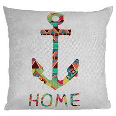 Custom printed pillow with a multicolor anchor and text motif by Bianca Green. Made in the USA.     Product: Pillow   Construction Material: Woven polyester cover and polyester fill    Color: Multi    Features:  Designed by Bianca Green for DENY DesignsInsert included6 color dye process, custom printed for every order    Sealed closure Made in the USA    Cleaning and Care: Spot treatment with mild detergent