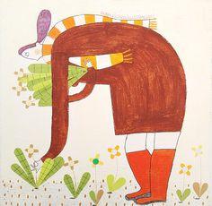 A raccogliere fiori  Dora Dicara illustrazioni