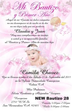 Spanish baptism invitation printable invitacion de bautizo espaol baptism invitation in spanish stopboris Gallery