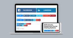 Ridiculously responsive social sharing buttons by KNI Labs.