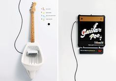 guitar pee musical urinal