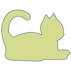 Studio Cat-Pouncing (Large). Uitprinten op grootte.