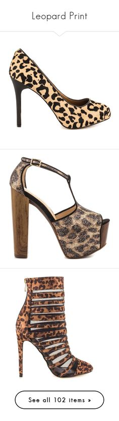 """""""Leopard Print"""" by lacie-nicole ❤ liked on Polyvore featuring shoes, pumps, high heel shoes, fur shoes, hidden platform pumps, leopard print shoes, multi color shoes, leopard shoes, high heeled footwear and gold block heel shoes"""