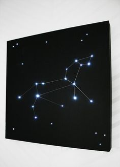 Amazing DIY: Light up Constellation Wall Display