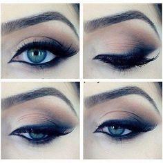 Eu simplesmente acho um luxo essa make. Ideal para qualquer ocasião. Olho bem marcado, sem exageros e o toque todo especial do delineado esfumado. Top Top Top!!! Inspiração total!!! #makeuplover #makeupartist #maquiagemx #lovemakeup #beauty #makeupoftheday #inspiration #extravanganza