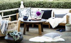 Create a winter retreat...outdoors