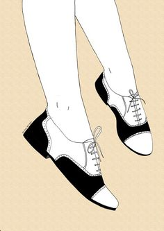 Twin Peaks | Audrey's saddle shoes by Janelle Burger