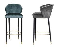 Nuka Bar Chair  Contemporary, MidCentury  Modern, Transitional, Upholstery… Modern Bar Stools, Modern Chairs, Modern Armchair, Bar Counter, Counter Stools, Midcentury Modern, Stool Chair, Wood Stool, Chair Cushions