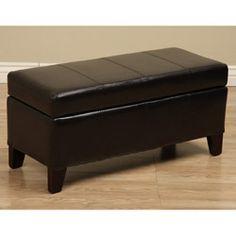 Ariel Soft Quality Stylish Faux Leather Storage Bench Ottoman Decorate Living | eBay