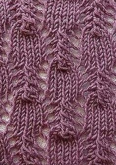 Knitting openwork pattern