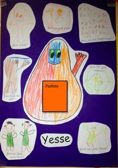 meervoudige intelligentie kleuters: de kinderen mogen bij elke intelligentie een bijpassende tekening maken.