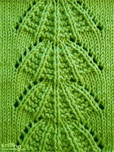Parasol Lace Stitch Pattern. With an added row or Garter in a different colour between pattern repeats this makes a stunning design.