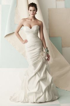 Gorgeous Mermaid Wedding Dress with Gracious Pick-ups
