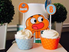 Gumball Cupcake Kit, Gumball Cupcake Toppers, The Amazing World of Gumball, Kids…