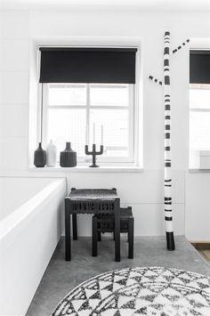 Badmat - Rond - Medium - 80cm - Katoen - HK Living