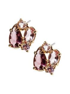 Super cute! I'd wear purple every day just so I could wear these earrings!
