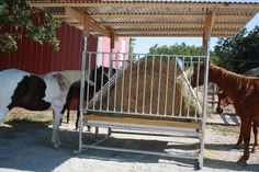 """horse stalls diy   We had over an inch of rain last night but the hay was still dry!"""""""