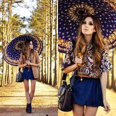 блузка+зонт