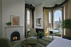 The Mansion on Delaware Avenue features 28 one-of-a-kind guest rooms in a grand converted home.