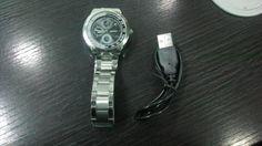 Watch with usb storage Smart Watch, Usb, Samsung, Watches, Storage, Gifts, Purse Storage, Smartwatch, Wristwatches