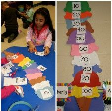 100th Day of School Activity: Scoop Upon Scoop #kidcrafts