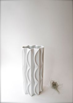 Vintage Modern White Vase Scherzer West German Geometric Matte White Porcelain Vase on Etsy, $225.35 CAD