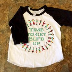 Babies Christmas outfit for ugly christmas sweater party - Baseball ringer tee - Ugly Christmas Sweater party