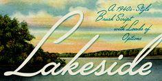 Lakeside - font.