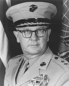 Oscar F. Peatross - Oscar F. Peatross - Wikipedia 7 Marine, Us Marine Corps, Marine Raiders, Parris Island, Service Medals, Camp Pendleton, Iwo Jima, Chief Of Staff, Korean War