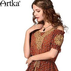 Яркая удлиненная блуза на кулиске с открытыми рукавами и кружевной отделкой воротника