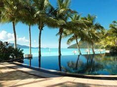 Beach Club Pool Resort Australian Pacific Ocean Island