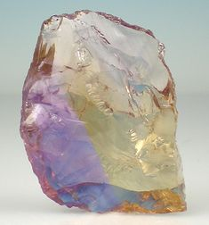 Ametrine-rare and unusual stone which occurs in quartz when amethyst and citrine reside in the same crystal. VERY RARE only found in Bolivia.