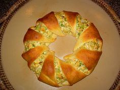 Pampered Chef - Chicken Broccoli Braid - a family favorite. You can get the recipe on the Pampered Chef's website.
