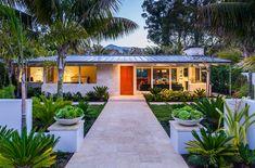 Beach Villa Ranch Style Bungalow with Mid-Century Modern Architecture - Montecito, California