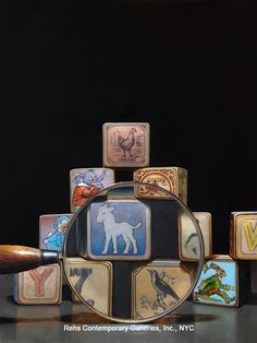 Magnified Blocks by James Neil Hollingsworth
