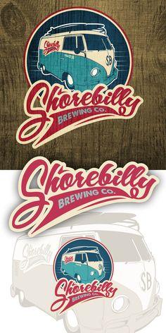 Shorebilly Brewing Co. logo design by pmo
