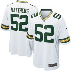 New Men's White Nike Game Green Bay Packers #52 Clay Matthews Color NFL Jersey   All Size Free Shipping. Size S, M,L, 2X, 3X, 4X, 5X. Our massive selection of Men's White Nike Game Green Bay Packers #52 Clay Matthews Color NFL Jersey coupled with our competitive prices, fast shipping and friendly service for nike jerseys is why we are the largest fan shop online.