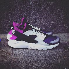 Nike Air Huarache Woman Purple and white color 100% real size 8 us 39 EUR