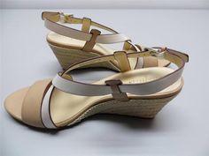 Cole HaanTaylor Wedge Sandal Shoe Straps Hemp Heel Beige/ Ivory NIB Sz 9B #ColeHaan #PlatformsWedges