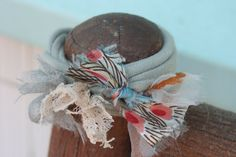 Upcycled tshirt fabric scrap bracelet by FriedMarbles on Etsy, $5.00