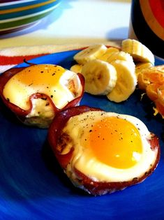 Ham & egg cups- These are yummy and so easy.  The recipe says to bake for 10 minutes at 375 degrees.  However, I found they needed about 16 minutes instead to be fully cooked. I'm also going to spray the muffin pan with Pam next time.