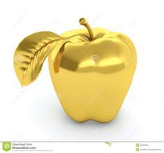 Golden Apple Royalty Free Stock Photos - Image: 26633948