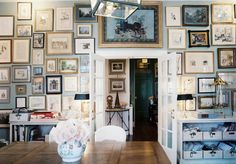 Salon Style Art Wall.. My French Country Home